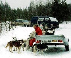 Retkeilemään menossa koirien kanssa